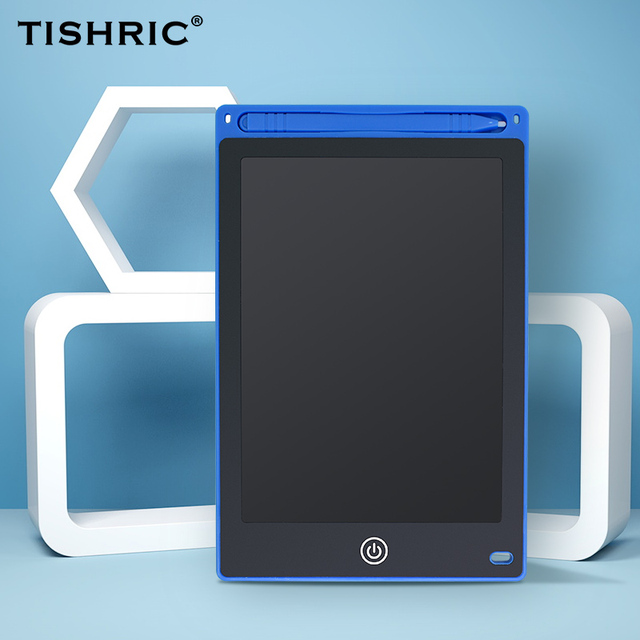 Tableta de escritura LCD de 8,5 pulgadas TISHRIC para dibujo, tableta/Pad/tablero de dibujo borrable Digital para niños, tableta gráfica electrónica