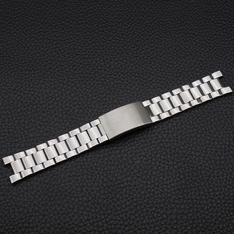 Watch Accessories Stainless Steel Watch Band Notch 20*9 Mm Steel Belt Steel Chain Metal Men's Watch Chain Notch Watch Strap