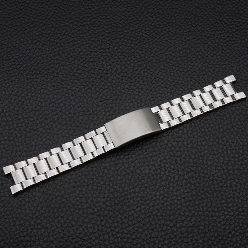 Watch Accessories Stainless Steel Watch Band Notch 20*9 Mm Steel Belt Steel Chain Metal Men's Watch Chain Notch Watch Strap