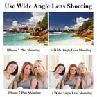 4 en 1 Kit de lente de cámara de teléfono sin distorsión Objetivo Macro de gran angular de ojo de pez con Clips Lentes para la mayoría de Smartphones - 4
