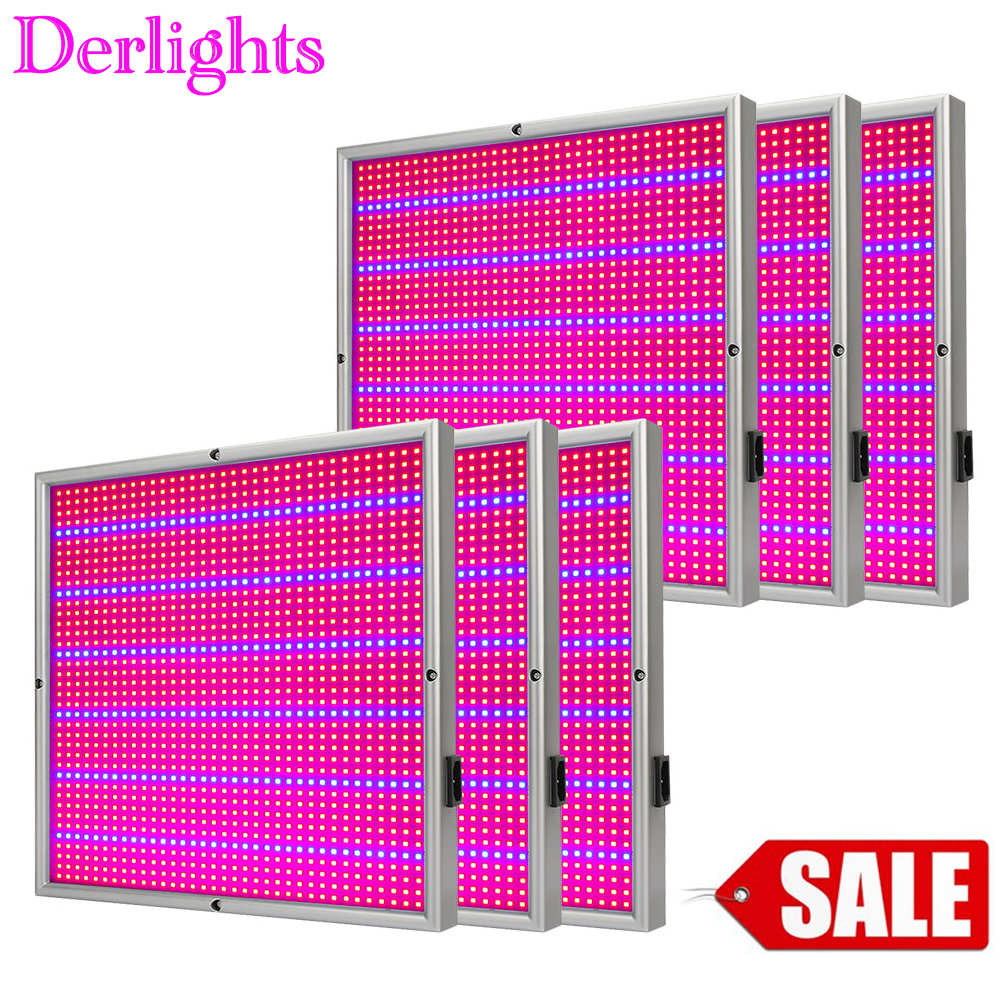 6PCS LED Grow Light 120W Full Spectrum AC85~265V For Indoor Greenhouse Grow Tent Balcony Plant Hydroponics Grow/Bloom Flowering