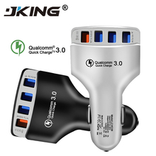 4 USB Quick Charger 3.0 Car Charger Adapter 7A QC3.0 Turbo Fast Charging 4 USB Car Mobile Phone Charger for iPhone Xiaomi