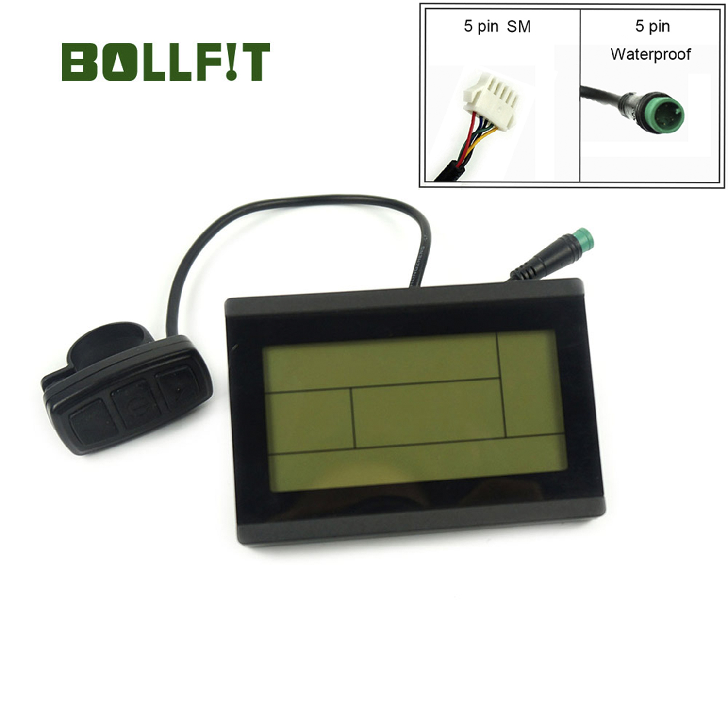 BOLLFIT KT Display 24V 36V 48V 72V Control Panel  Display Electric Bicycle Accessories Ebike Display LCD3 LCD3U