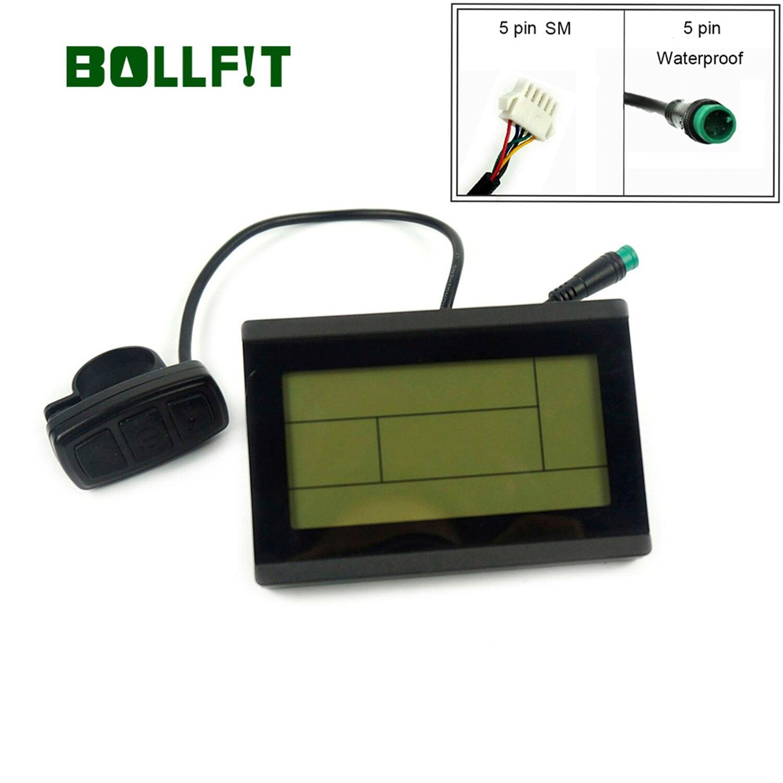 BOLLFIT KT Display 24V 36V 48V 72V Control Panel  Display Electric Bicycle Accessories Ebike Display LCD3 LCD3U|Electric Bicycle Accessories| |  - title=