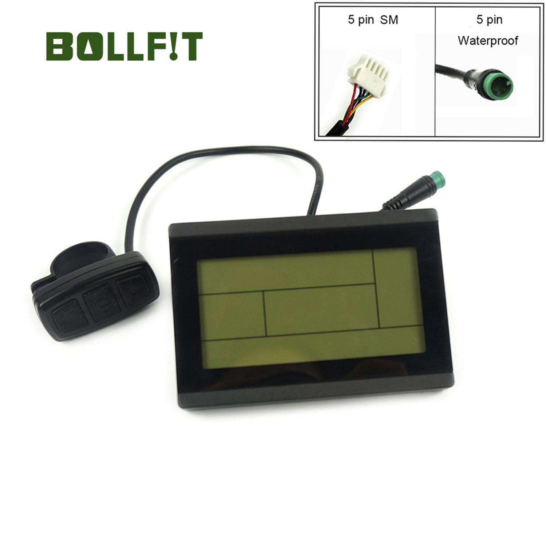 BOLLFIT KT Display Kunteng 24V 36V 48V 72V LCD3 LCD3U Control Panel  Display Electric Bicycle Part  Accessories