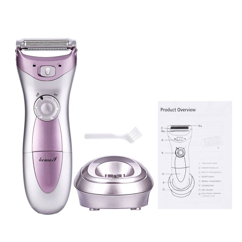 Women's Electric Epilator Rechargeable Bright Light Hair Removal Device Body Face Bikini Legs Painless Safety Shaving Trimmer 45