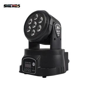 Image 2 - LED Wash 7x18W RGBWA+UV/7x12W RGBW Moving Head Lighting 6in1 BGBWA+UV For Disco DJ KTV 12/16DMX Channels LED Stage Dj Light
