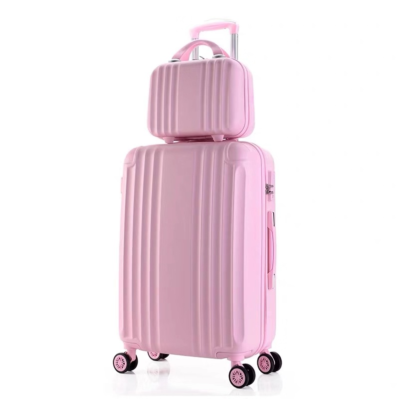 20''26 Inch ABS+PC Luggage Set Travel Women Suitcase On Wheels Carry On Cabin Rolling Luggage With Cosmetic Bag Student Luggage