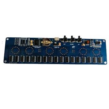 Zirrfa 5V kit de bricolage électronique in14 Nixie Tube horloge LED numérique kit de carte cadeau PCBA, pas de tubes