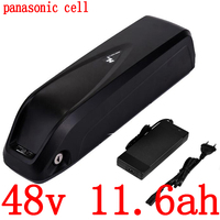 48V 500W 750W battery 48v 11.6ah lithium ion battery 48V 12AH electric bicycle battery use panasonic cell with 54.6V 2A charger|Electric Bicycle Battery|Sports & Entertainment -