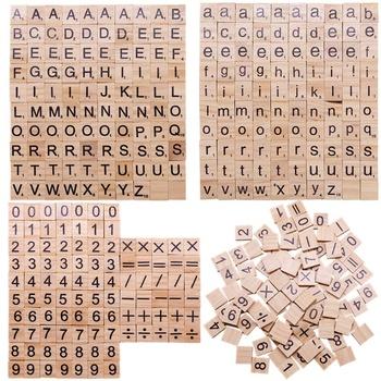100 sztuk drewniane Scrabble litery angielski alfabet słowo drewniane Craft cyfrowe Puzzle mózgu gry Scrabble płytki alfabet dowiedz się dzieci tanie i dobre opinie Drewna 36CLC158