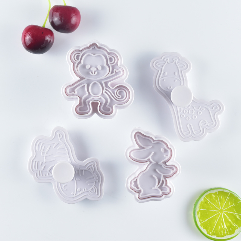 2020 New 4pcs Cake Tools Animal Cutter Set Cookie Cutters Biscuit Stamp Fondant Mould Baking Sugarcraft Mold