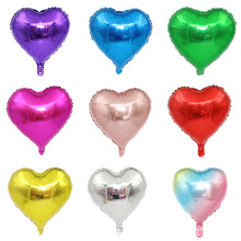 10pcs 18inch Rose Gold Red Pink Love Foil Heart Helium Balloons Wedding Birthday Party Valentine Day Globos Decorations