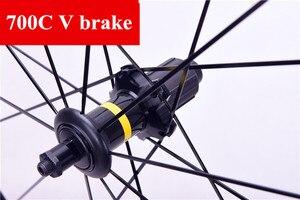 Image 4 - 초경량 도로 자전거 V 브레이크 디스크 브레이크 휠 S700c Cosmic Elite 40mm 알루미늄 합금 자전거 wheelset Rims