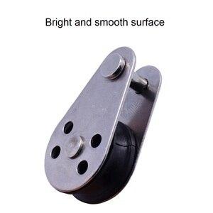 Image 3 - 5 шт. Нержавеющаясталь 316 шкив блока 45 мм одвесных проводов буксирное колесо подъемный трос со стальным тросом с поддерживающим роликом для 2 мм 8 мм Канат