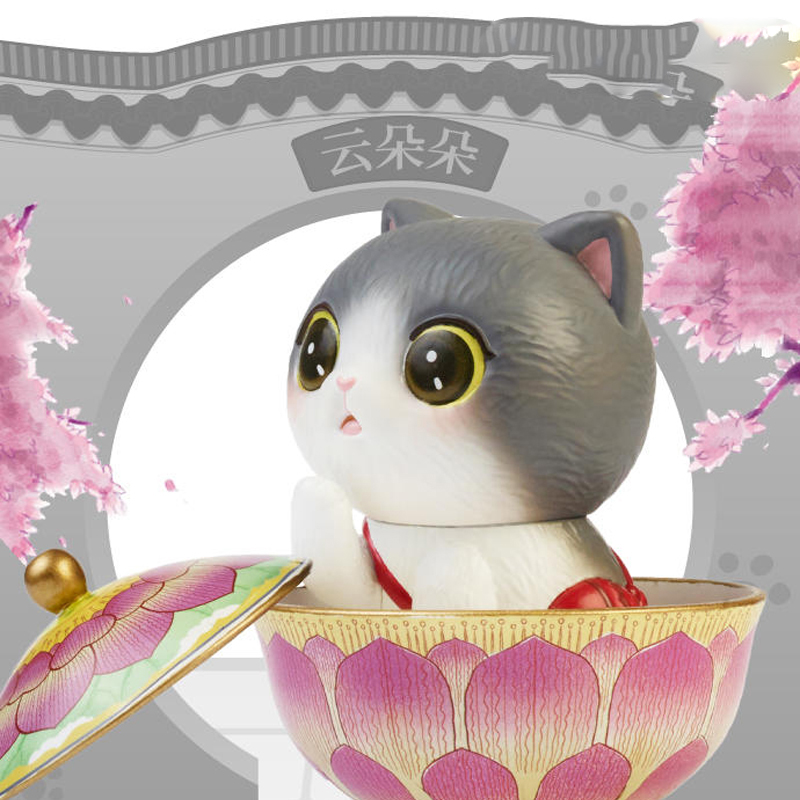 Blind Box Toys Figure Original Guan Fu Cat Series 7 Style Random Surprise Anime Model Guess PVC Figurine Doll 6Pcs/Set