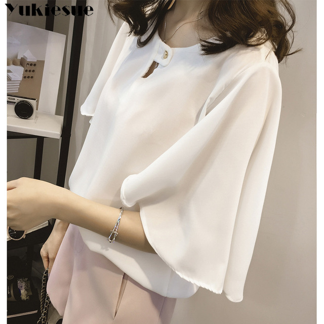 short sleeve 2020 summer women's shirt blouse for women blusas womens tops and blouses chiffon shirts ladie's top plus size 2