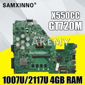 X550CC For ASUS X550CA R510C Y581C X550C X550CL laptop motherboard 1007U/2117U CPU gt720m 4G tested 100% work original mainboard