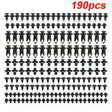 190 pçs de plástico prendedor automático prendedor plástico rebite carro push pin rebite clipes guarnição kit automotivo interior suprimentos rebite