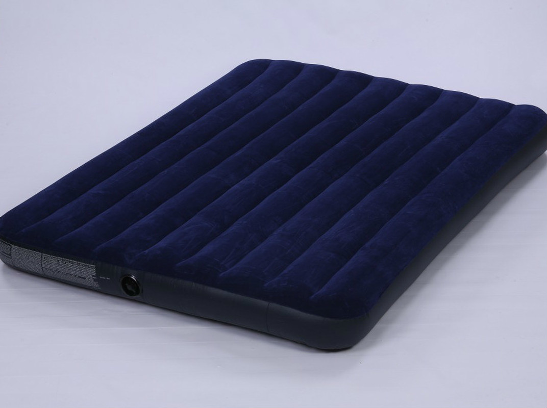 Pump Pillow Luxury Blue Flocking Double Increase Air Mattress Double Air Mattress Bed