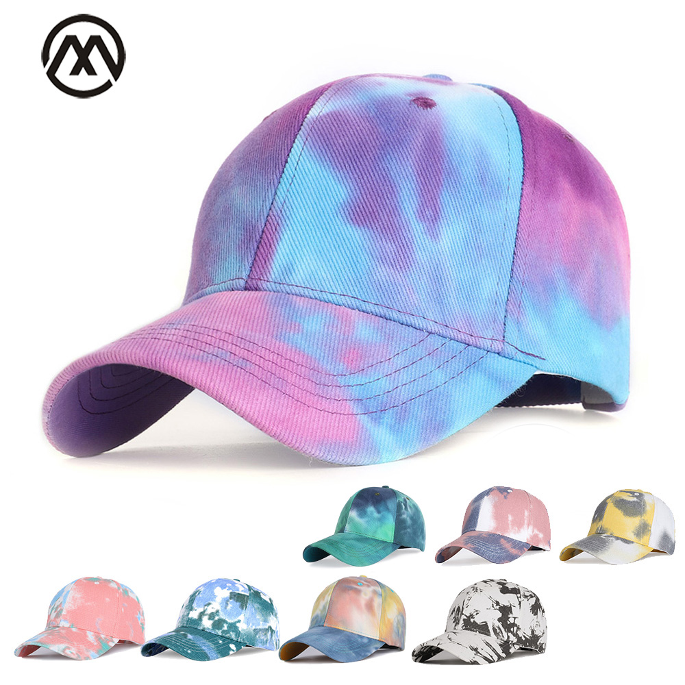 Tie-dye Baseball Cap Male / Female Baseball Cap Female Pea Brand Outdoor Shade Sports Hat Male Bone Father Driver Hat Spring New