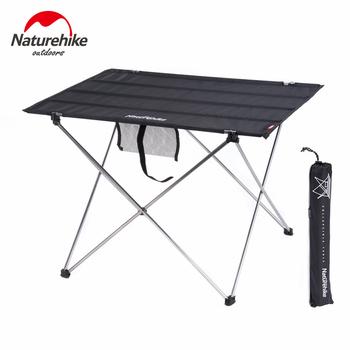 Naturehike przenośny stół piknikowy lampa stołowa na zewnątrz składany stół kempingowy stół wędkarski kompaktowy składany stół plażowy tanie i dobre opinie CN (pochodzenie) Aluminum Alloy 1680D Oxford cloth Provide load capacity up to 32 kg (70 Lbs) 55x75x52 cm (21 7x29 5x20 5 inch)