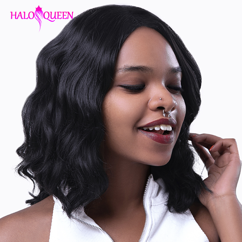 HALOQUEEN Body Wave Lace Front Human Hair Wigs Brazilian Remy Hair Mid length Wigs Pre Plucked Lace Closure 13X4 Frontal Wigs|Human Hair Lace Wigs|   - AliExpress