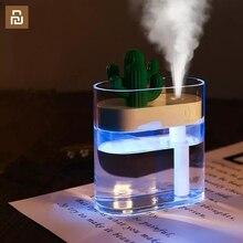 Klar Kaktus Ultraschall luftbefeuchter 160ML Farbe Licht USB Air Purifier Anion Nebel Maker Wasser Zerstäuber