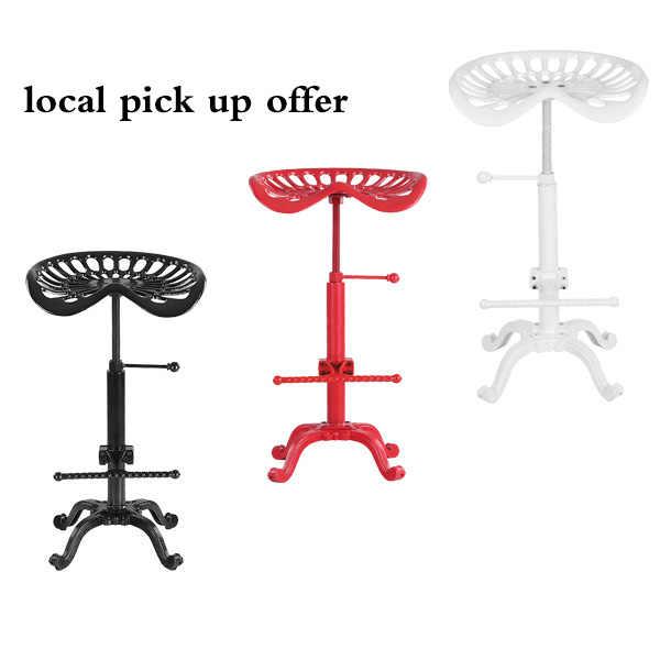 Домашний стул для столовой промышленный стиль чугунное тракторное Сиденье Барный стул современный регулируемый по высоте поворотный металлический стул