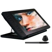 Affichage graphique de stylo de moniteur de tablette de dessin de gafairy PD1161 IPS HD avec 8192 niveaux stylo libre de batterie et support réglable