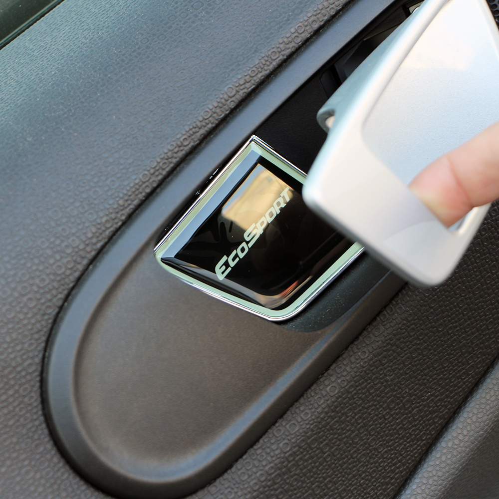 Jameo Auto 4Pcs/Set Aluminum Alloy Car Interior Door Protection Bowl Cover Doors Trim Sticker For Ford Ecosport 2012 - 2020