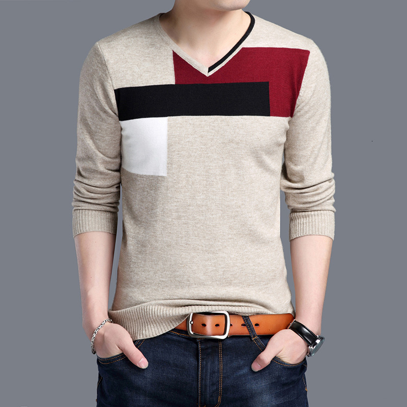 Spring  Men's Wool Sweater Original Cotton Sweater Round Leader's Long Sleeve Sweater Men's Sweater Tight Sweater