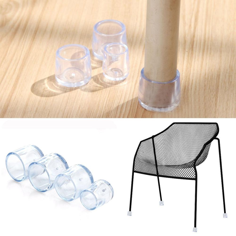 8pcs Chair Protector Transparent PVC Round Chair Leg Furniture Table Chair Leg Floor Feet Cap Table Cover Wood Floor Protector