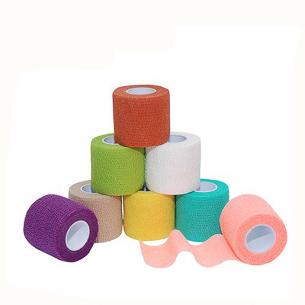 5cm*4.5m Non-woven Fabric Self-sticking Sports Tape Volleyball Finger Guard Basketball Ankle Knee Guard Bandage