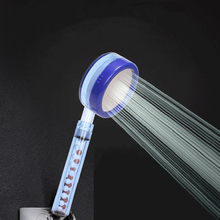 VEHHE High Pressure filter balls ABS Transparent blue shower head high quality plastic handle Detachable water saving