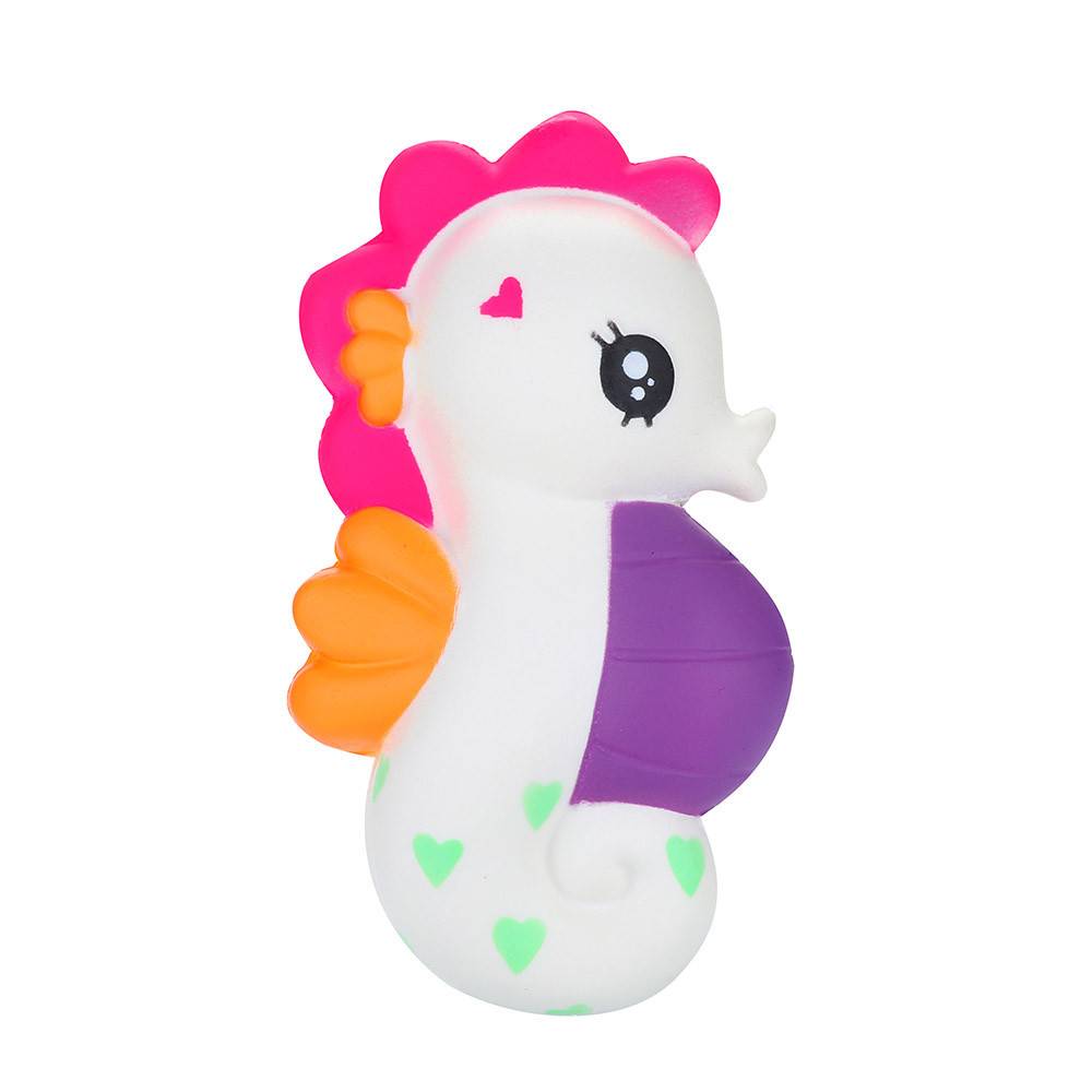 Lovely Seahorse Scented Slow Rising Squeeze Toys Funny Holiday Gift Decompression Slow Rebound Toys For Children #B