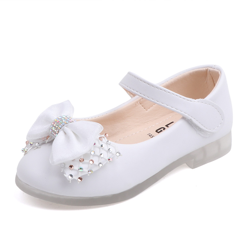 SOMESUN Baby Girl Single Shoes Toddler Kid Cute Elegant Pearl Bowknot Casual Soft Leather Princess Shoes