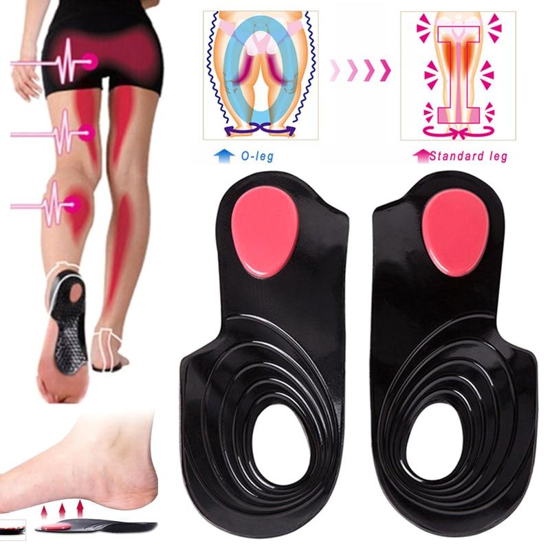 Unisexe O/X jambes Correction semelles orthopédiques soutien de la voûte plantaire orthèses coussinet massage chaussure pied santé plat pied semelles A7