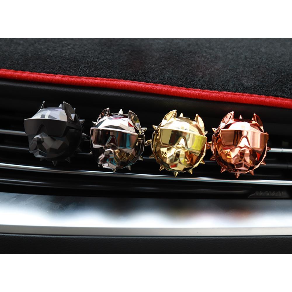 Popular Bulldog Car Perfume Fragrance Clip Auto Vent Air Freshener Scent Parfum Bulldog Diffuser Car Interior Decoration