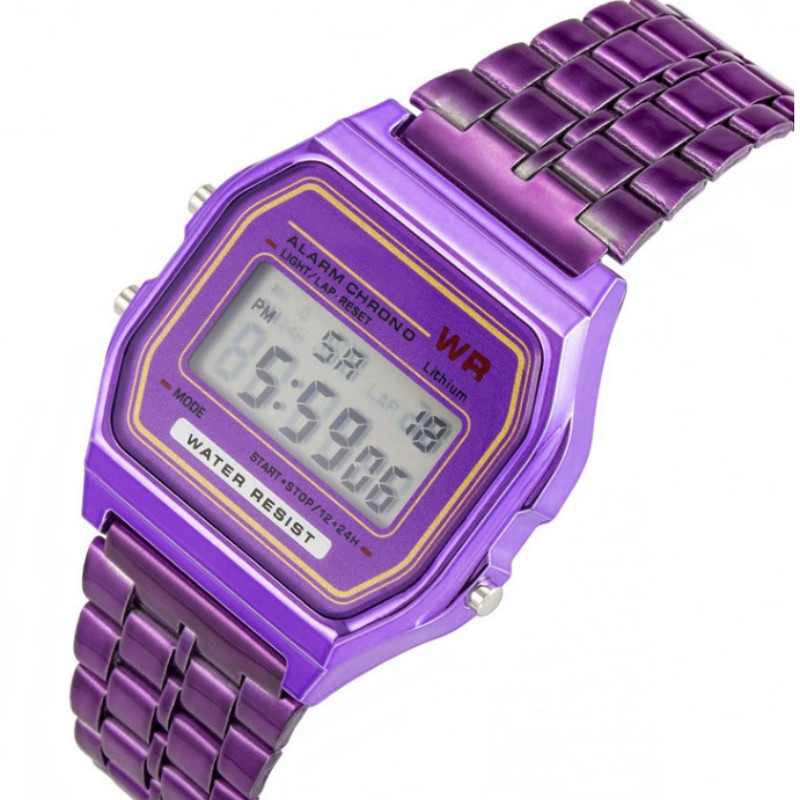 Square  Restoring Ancient Ways  Trend  Student Electronic Watch  Square  Alloy Belt Children  Watch-2