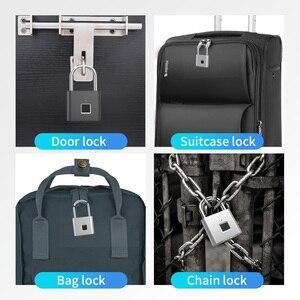 Image 5 - TELESIN Fingerprint Lock Keyless USB Rechargeable Smart Padlock Quick Unlock Zinc Alloy Metal Security For Door Luggage Bag