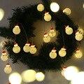 Новый Рождественский светодиодный Сказочный гирляндовый светильник Санта Клаус для помещений и улицы декоративная лампа