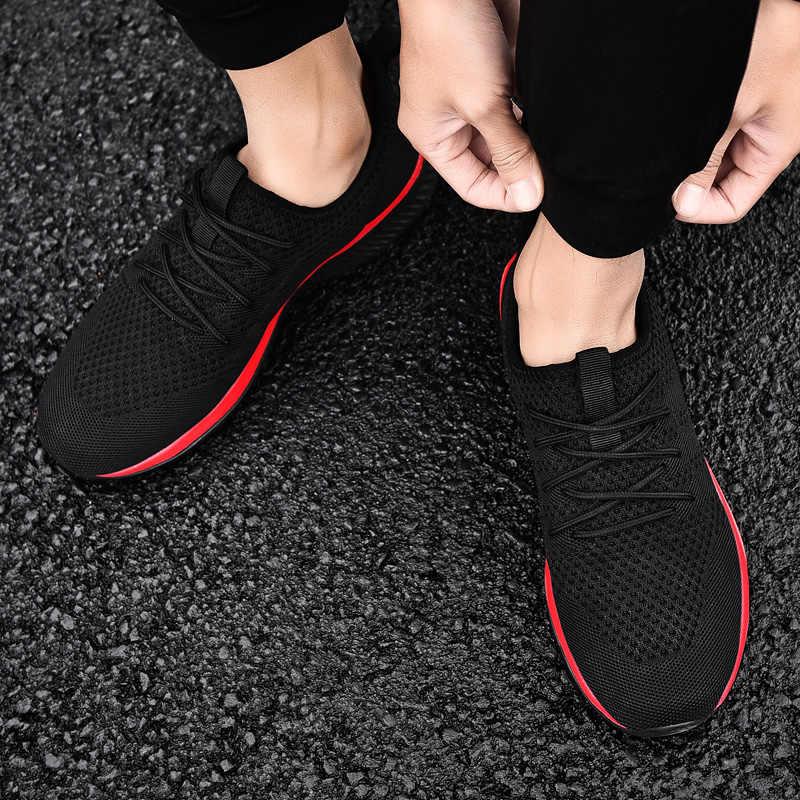 รองเท้าวิ่งชายรองเท้าสบายๆกีฬารองเท้าผู้ชายน้ำหนักเบารองเท้าผู้ชายรองเท้าผ้าใบ Breathable Zapatillas รองเท้าผ้าใบ