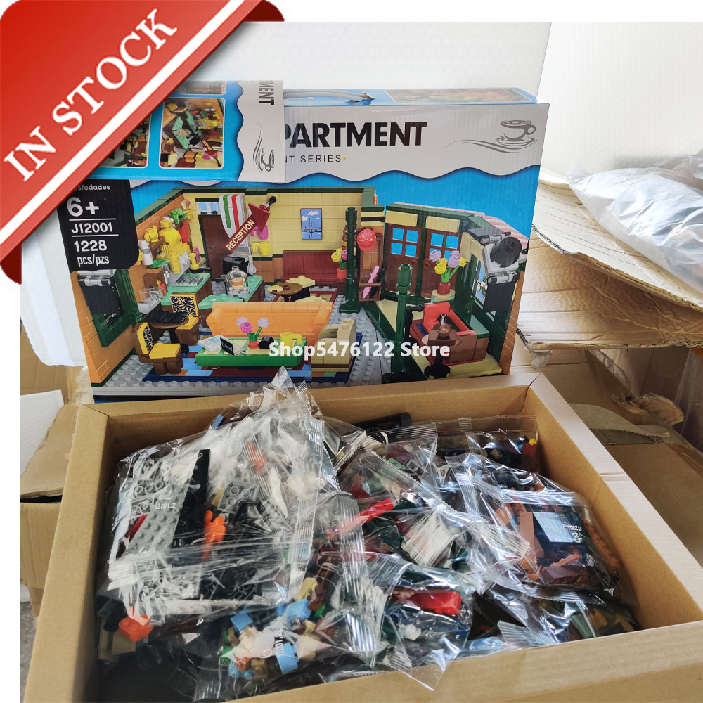 Ideas Friends Central Perk 21319 16024 In Stock Building Blocks 1228Pcs Big Bang Theory Drama Television  21302 21320