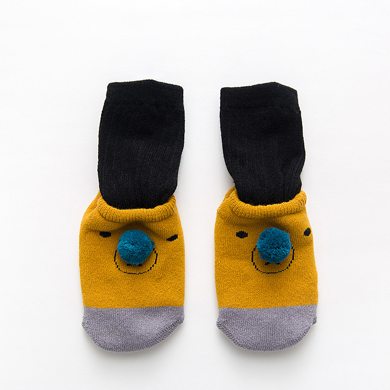 Купить с кэшбэком 1Pair New Autumn Winter Cotton Baby Socks Newborn Children's Anti-skid Floor Socks For Toddler Girl Boy Socks 0-3T
