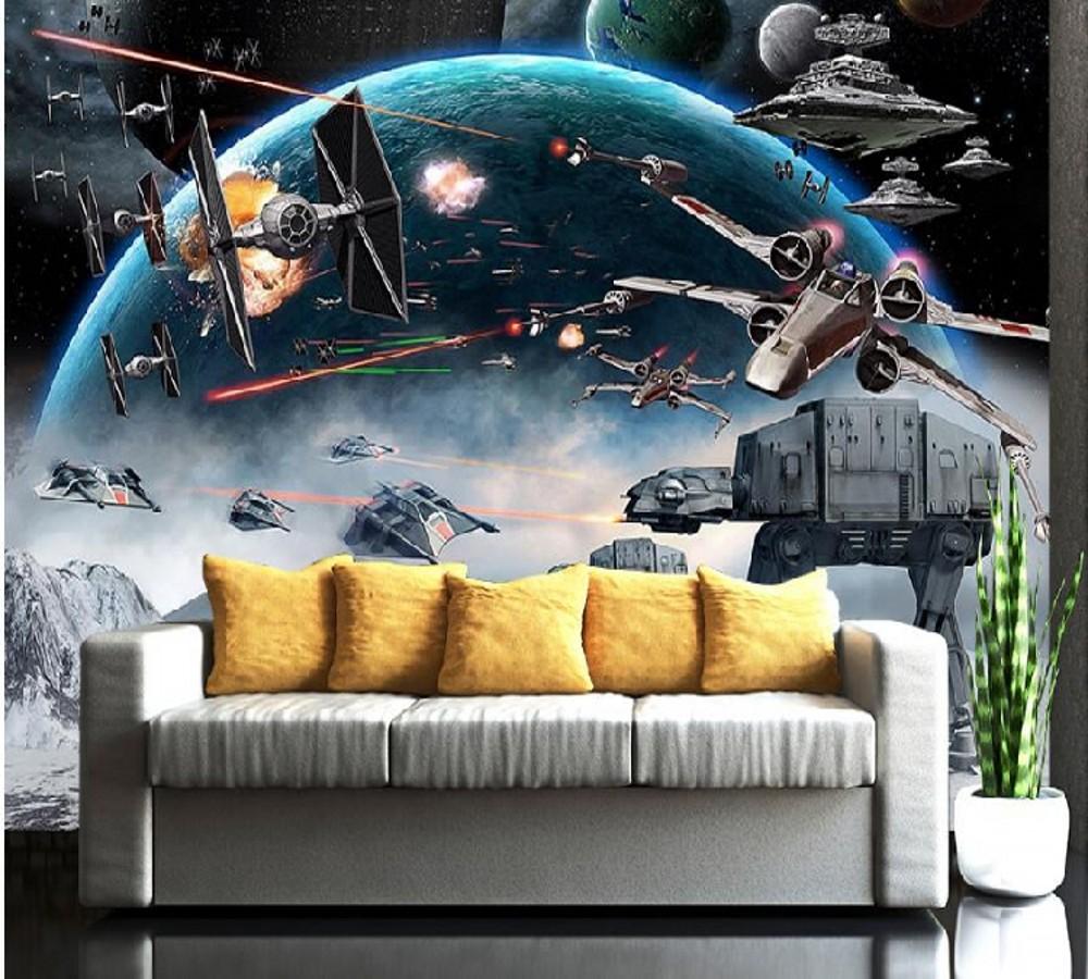Drop Shipping Wallpaper Bedroom Modern Star Wars Wallpaper For Kids Room Custom Photo Wall Mural Papier Peint Mural 3d Wallpapers Aliexpress