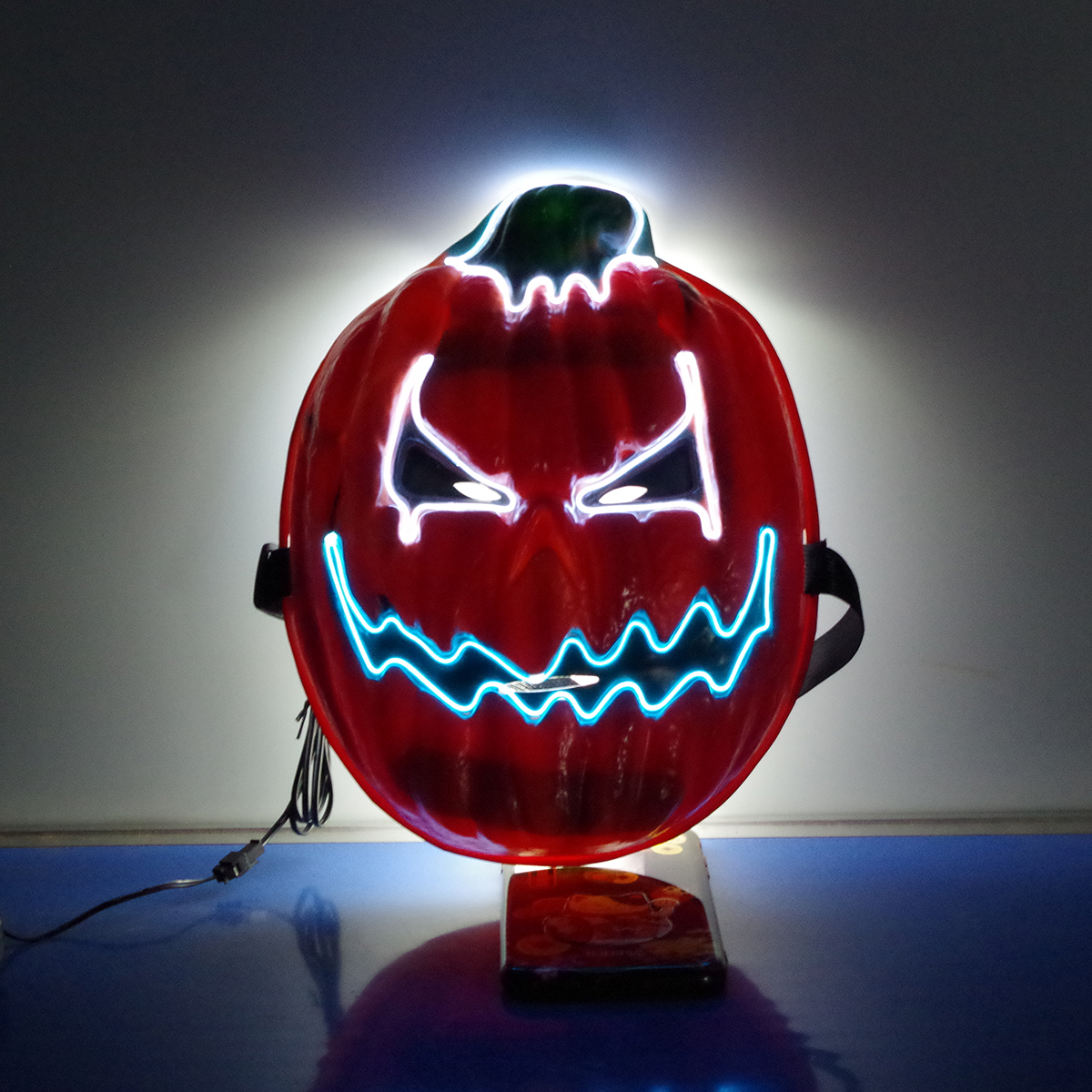 2019 Halloween Mask LED Mask Light Up Party Masks Neon Mask Cosplay Mascara Horror Glow Glow-in-Dark Dark Scary Pumpkin Mask