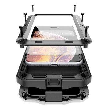Luxury Shockproof Doom Armor Waterproof Metal Aluminum Phone Cases For iPhone X XR XS Max 8 7 6 6s Plus 5s SE 4 4s Case Cover