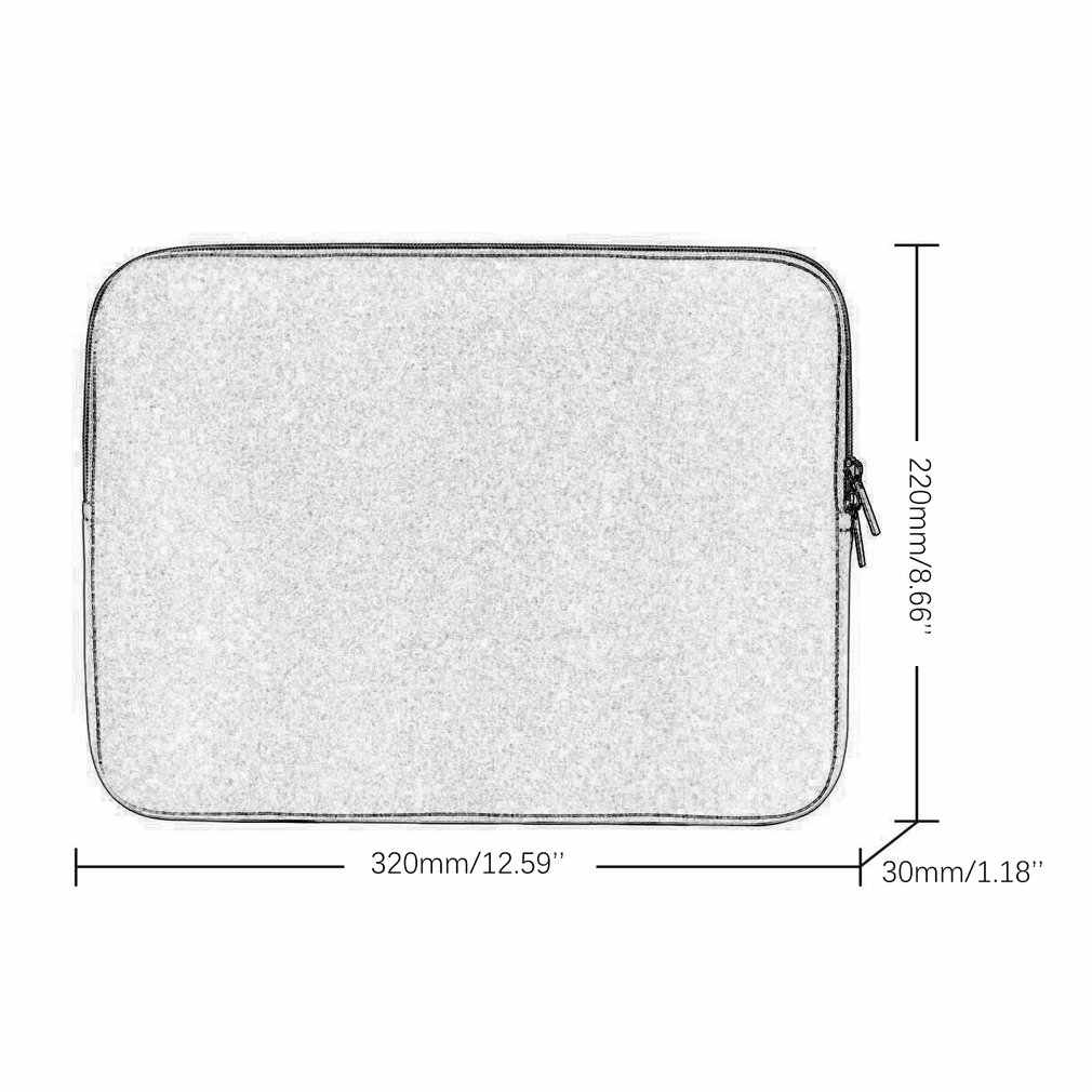 Lembut Laptop Tas untuk Macbook Udara Pro Retina 11 13 14 15 Lengan Case Penutup untuk Xiaomi Dell Lenovo Notebook komputer Laptop