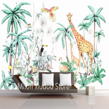 Mural Wallpaper Decorative Floral European Sofa Custom Retro TV 3D Background